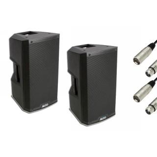 2x Alto Professional TS212 PA-Lautsprecher aktiv inkl. 10m XLR-Kabel Bundle