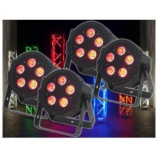 imm-professional.de 4x ADJ 5P HEX PAR LED Lichteffekt Bundle