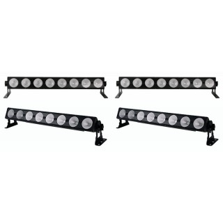4x INVOLIGHT COBBAR815 LED Fluterrampe Lichteffekt Bundle