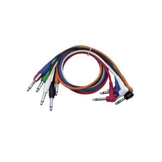 DAP-Audio FL14 - 6 coloured unbal. patch straight > 90° 90 cm