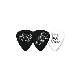 Fire&Stone Plektrum Fire&Stone Monster Picks Scorpion 351-Form, schwarz
