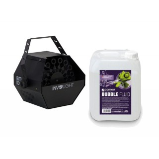 INVOLIGHT BM100 Seifenblasenmaschine inkl. 5L Bubblefluid Bundle