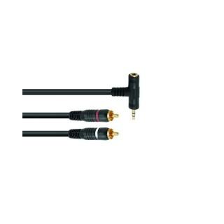 imm-professional.de OMNITRONIC Adapterkabel 3,5 T-Klinke/2xCinch 1,5m sw