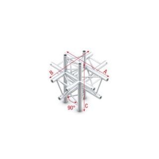 Showtec Milos Cross up/down 6-way T-022 90° T-cross + up/down 6-way PT30022