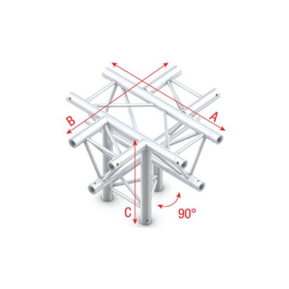 Showtec Cross + down 5-way, apex down Cross and Down 5-Way Apex Down Incl. Connectors GT30024