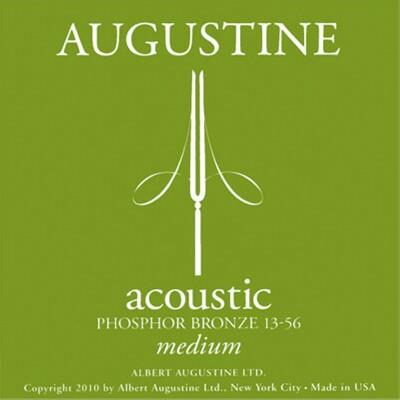 Augustine Acoustic M, grün Phosphor Bronze, .013-.056 Satz