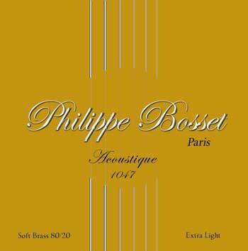 Philippe Bosset Acoustic Satz .010-.047 80/20, Extra Light