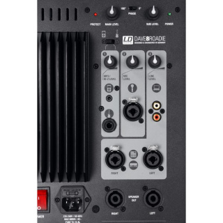 LD Systems DAVE 8 ROADIE - Portables PA-System aktiv mit 3 Kanal Mixer
