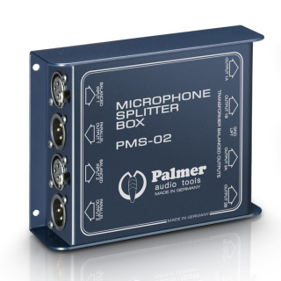 Palmer Pro PMS 02 - Mikrofon Splitter 2 Kanal
