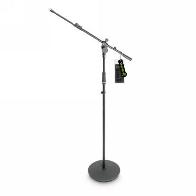 Gravity MS 2322 B - Mikrofonständer mit Tellerfuß und 2-Punkt Galgen