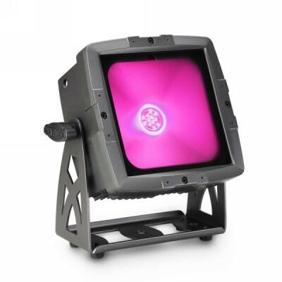 Cameo FLAT PRO FLOOD IP65 TRI - Outdoor Fluter mit 60W Tri-Color COB-LED schwarz