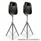 ADJ SPSX2B Lautsprecherstativ Set schwarz Stahl